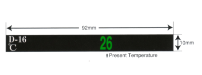 liquid crystal haccp thermometer